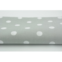 Cotton 100% polka dots 17mm on a light gray background