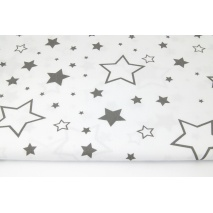 Cotton 100% dark gray stars XL on a white background II quality