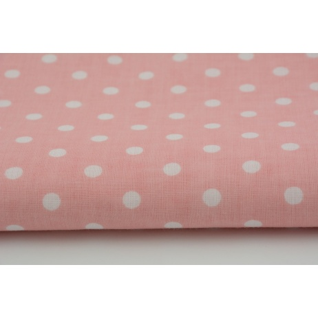 Cotton 100% white polka dots 2mm on a blue background