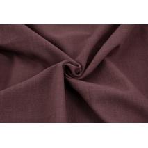 Bawełna 100% tkanina imitująca len, oberżyna
