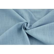 Bawełna 100% tkanina imitująca len, niebieska