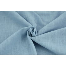 Cotton 100%, fabric imitating linen, blue