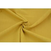 Bawełna 100% tkanina imitująca len, musztardowa