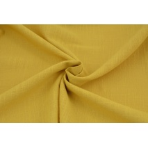 Cotton 100%, fabric imitating linen, mustard