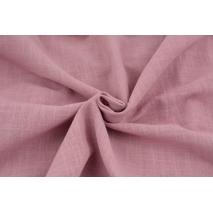 Bawełna 100% tkanina imitująca len, ciemny róż