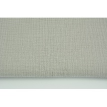 Double gauze 100% cotton plain gray-beige