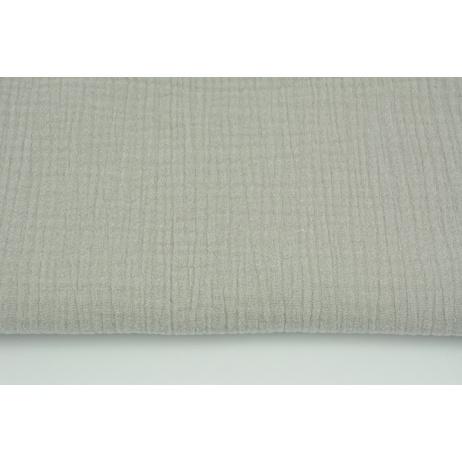 Double gauze 100% cotton plain gray-beige