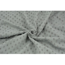 Knitted fabric with fluffy small dots, medium gray