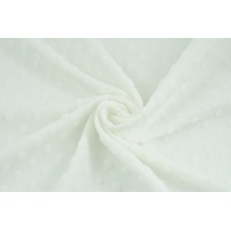 Knitted fabric with fluffy small dots, ecru
