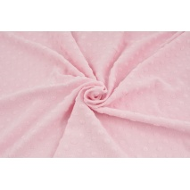 Knitted fabric with fluffy small dots, light pink