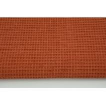 Cotton 100%, waffle fabric, plain ginger