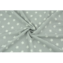 Knitwear viscose cream stars on a gray background II quality