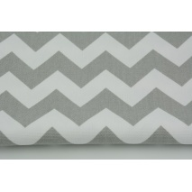 HOME DECOR light gray chevron zigzag cotton 100%
