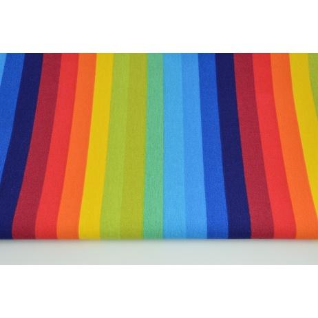 Tkanina dekoracyjna, tęczowe paski 2cm