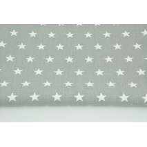 Home Decor, stars 2cm on a gray background 220g/m2 OPTICAL WHITE