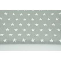 Home Decor, stars 2cm on a gray background 220g/m2 OPTICAL WHITE