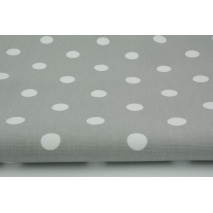 HOME DECOR polka dots 17mm on a light gray background 100% cotton