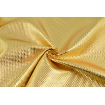 Lama fabric with texture, gold
