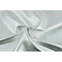 Lama fabric with texture, silver