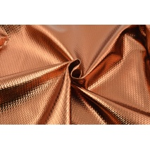 Lama fabric with texture, copper gold