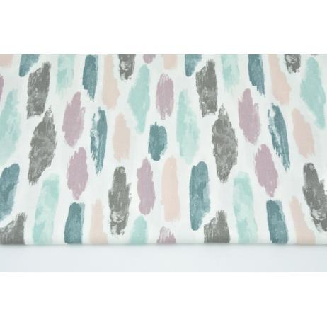 Cotton 100% heather-mint strokes on a white background