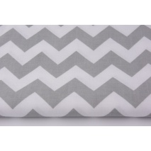 Cotton 100% light gray chevron zigzag II quality
