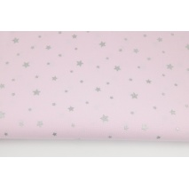 Cotton 100% silver stars on a pink background II quality