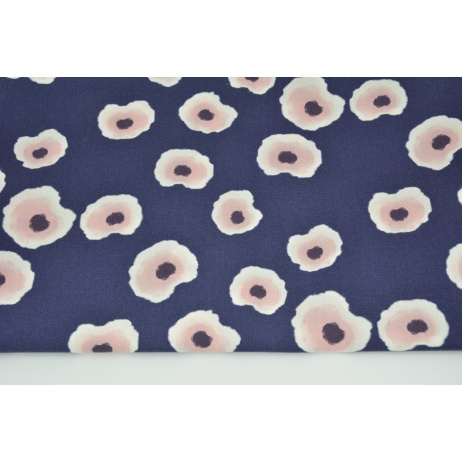 Cotton 100% painted spots on a navy background