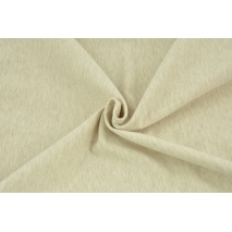 Looped knitwear plain beige melange