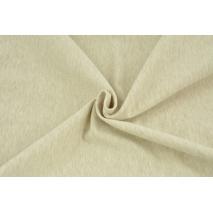 Looped knitwear plain beige melange