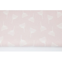 Cotton 100% puffballs on a powder pink background II quality