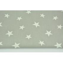 Tkanina dekoracyjna, gwiazdki na szarym tle 168 g/m2
