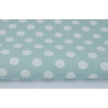 Home Decor, dots 12mm on a mint background 220g/m2 II quality