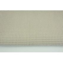 Cotton 100%, waffle fabric, plain beige