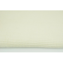 Cotton 100%, waffle fabric, plain ecru