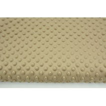 Dimple dot fleece minky in cappuccino color (2)