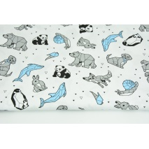 Cotton 100% gray-blue origami animals