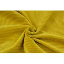 Knitwear, wide corduroy curry 300 g/m2