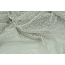 Soft tulle with small dots, light gray