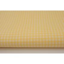 Bawełna 100% mała krateczka, pepitka żółta