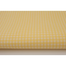 Cotton 100% yellow check, cheerful check