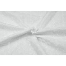 Muślin bawełniany haftowany w drobne kwiatki, biały
