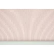 Bawełna powlekana ceratą, białe paski 1mm na różowym tle