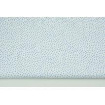 Bawełna 100% niebieskie drobne groszki na białym tle CZ