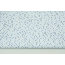 Cotton 100% blue small polka dots on a white background CZ