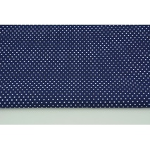 Cotton 100% mini white dots on a navy background CZ