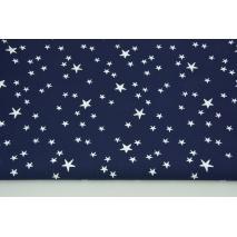Bawełna 100% nieregularne gwiazdki białe na granatowym tle CZ