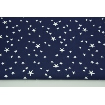 Cotton 100% irregular white stars on a navy background CZ