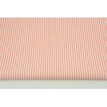 Bawełna 100% paski biało-łososiowe 2x3mm CZ