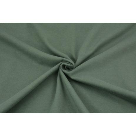 Cotton knitwear in the sleeve, plain dark sage